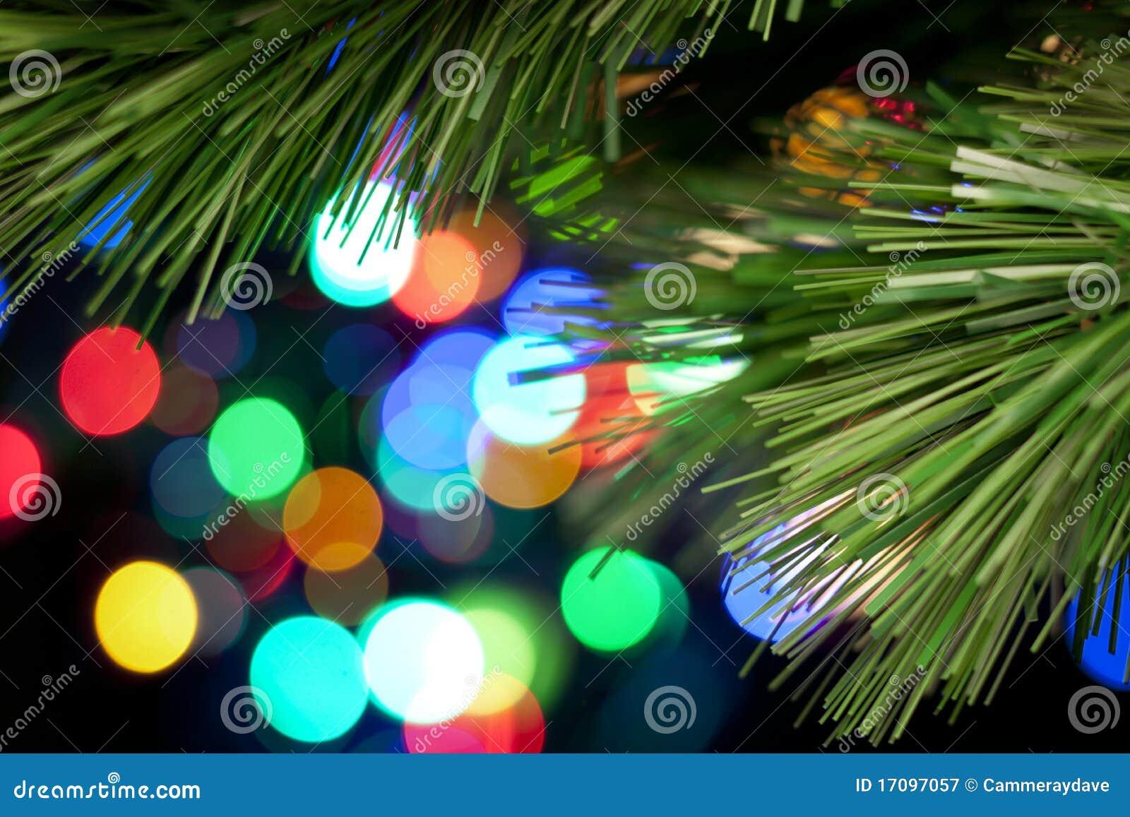 Christmas tree lights background stock image
