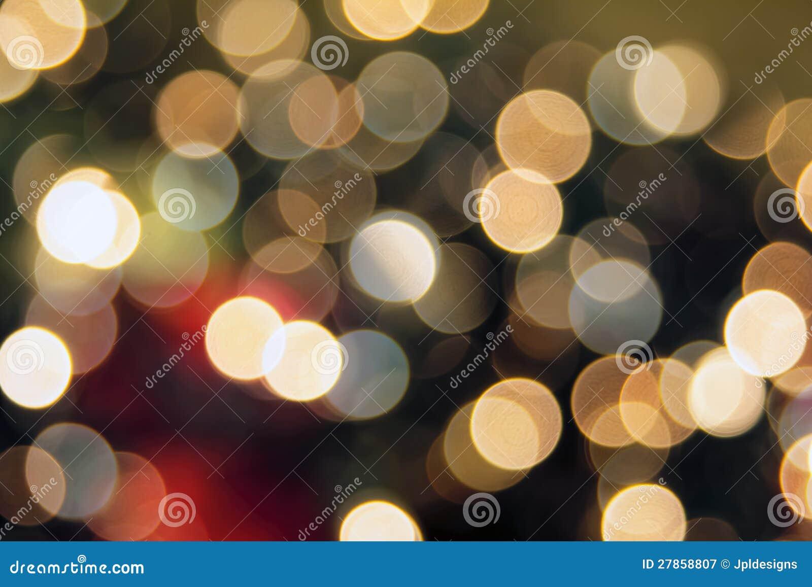 Christmas Tree Lights Bokeh Background