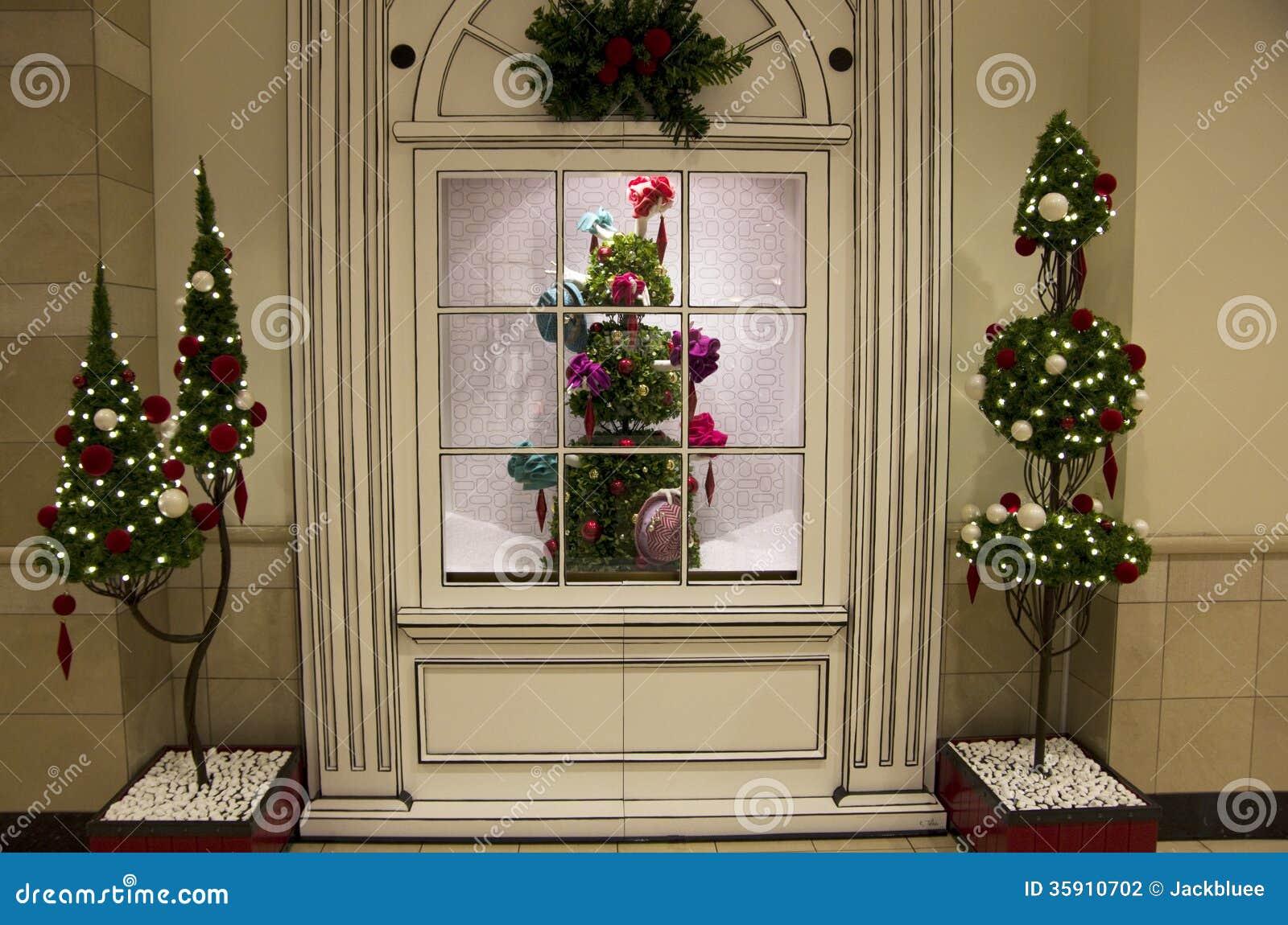 Christmas tree lights department store