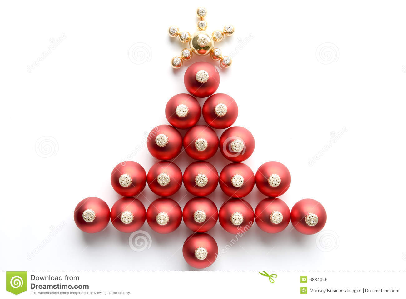 Red Gold Christmas Tree Decorations