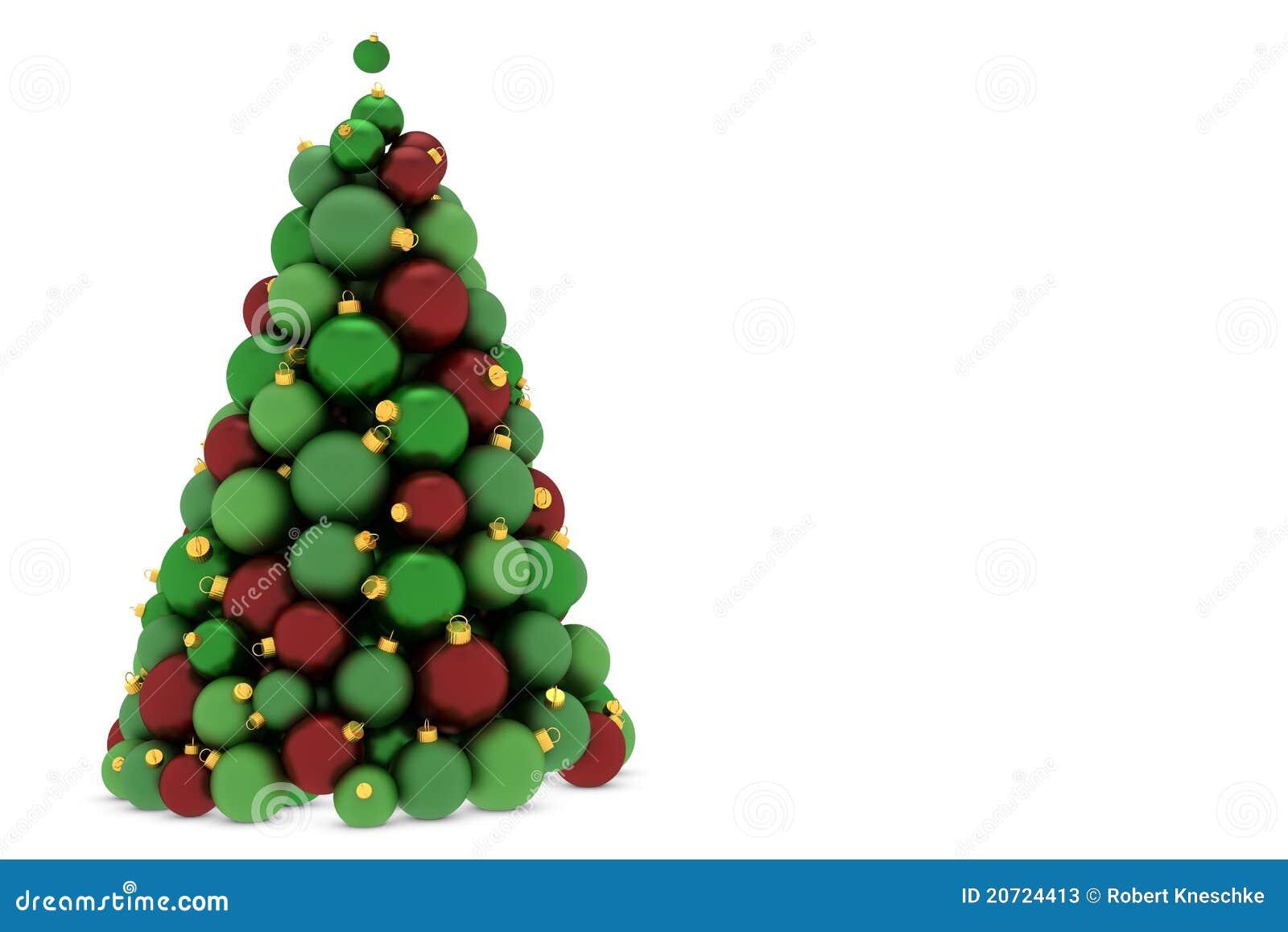 Christmas tree made of christmas tree balls stock photos for Christmas tree balls