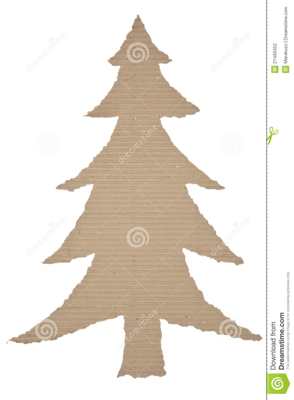 Corrugated paper Christmas tree 26