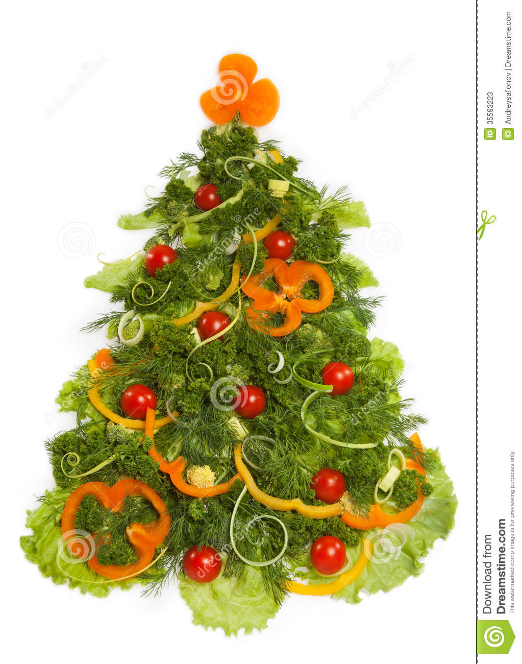 Christmas Tree Made Of Different Vegetarian Food Stock ...