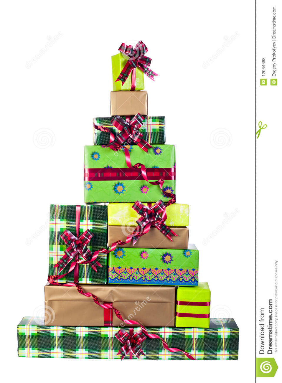 Christmas tree made of gift boxes stock photo image for Christmas tree in a box