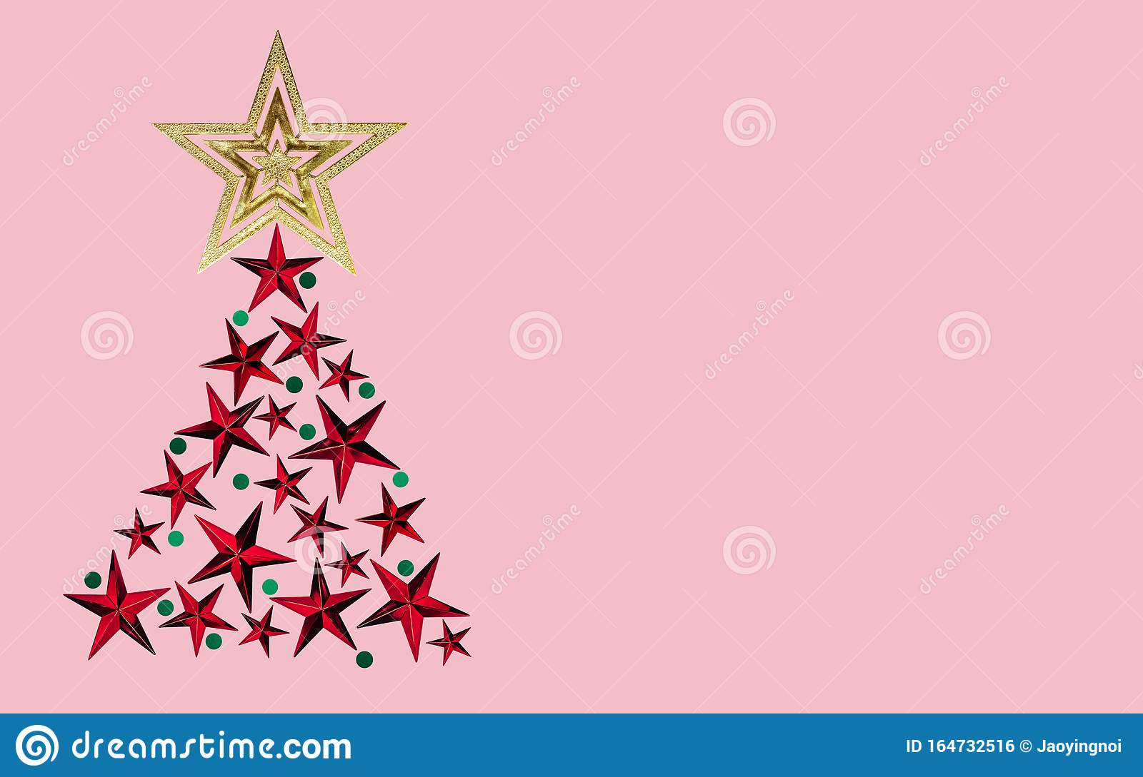 Christmas Tree Made From Gold Red Star Color With Green On Pink Background Artwork Minimal Pastel Illustration Design For New Yea Stock Illustration Illustration Of Flat Design 164732516