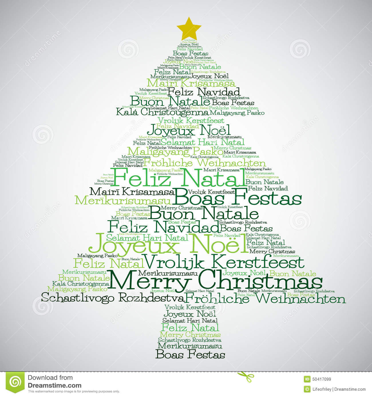 christmas tree made from merry christmas in different languages - How Do You Say Merry Christmas In Greek