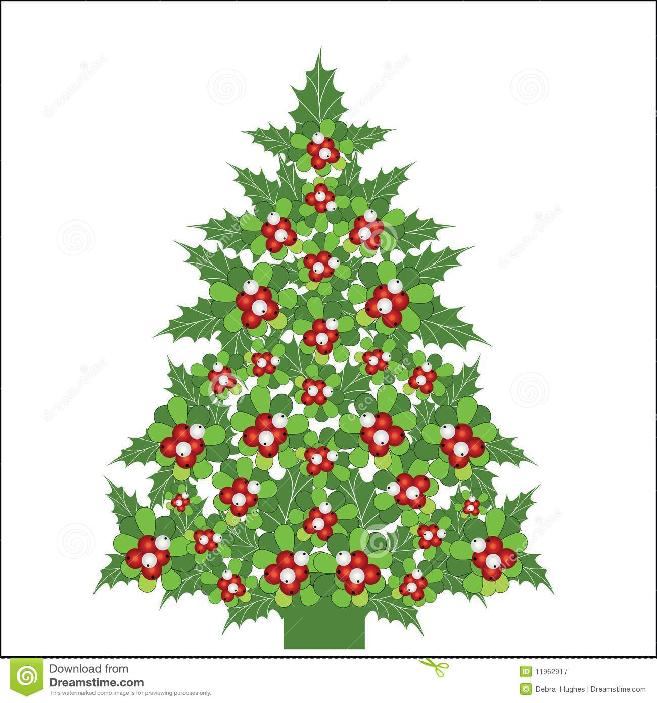 Christmas Holly Tree Part - 23: Royalty-Free Stock Photo. Download Christmas Tree ...