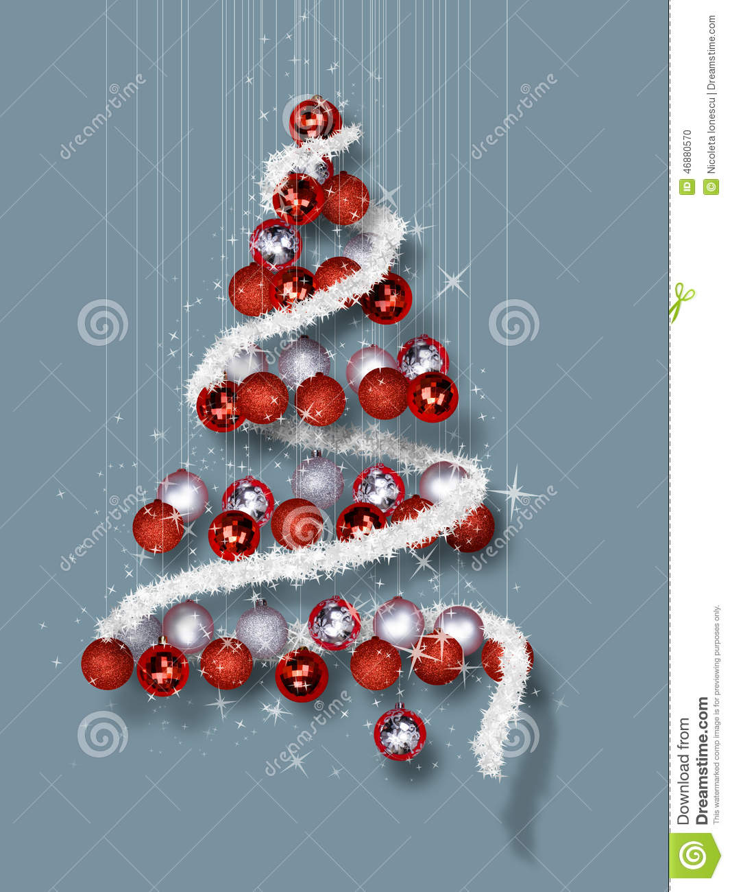 christmas tree made of ornaments on blue background - When Was Christmas Made