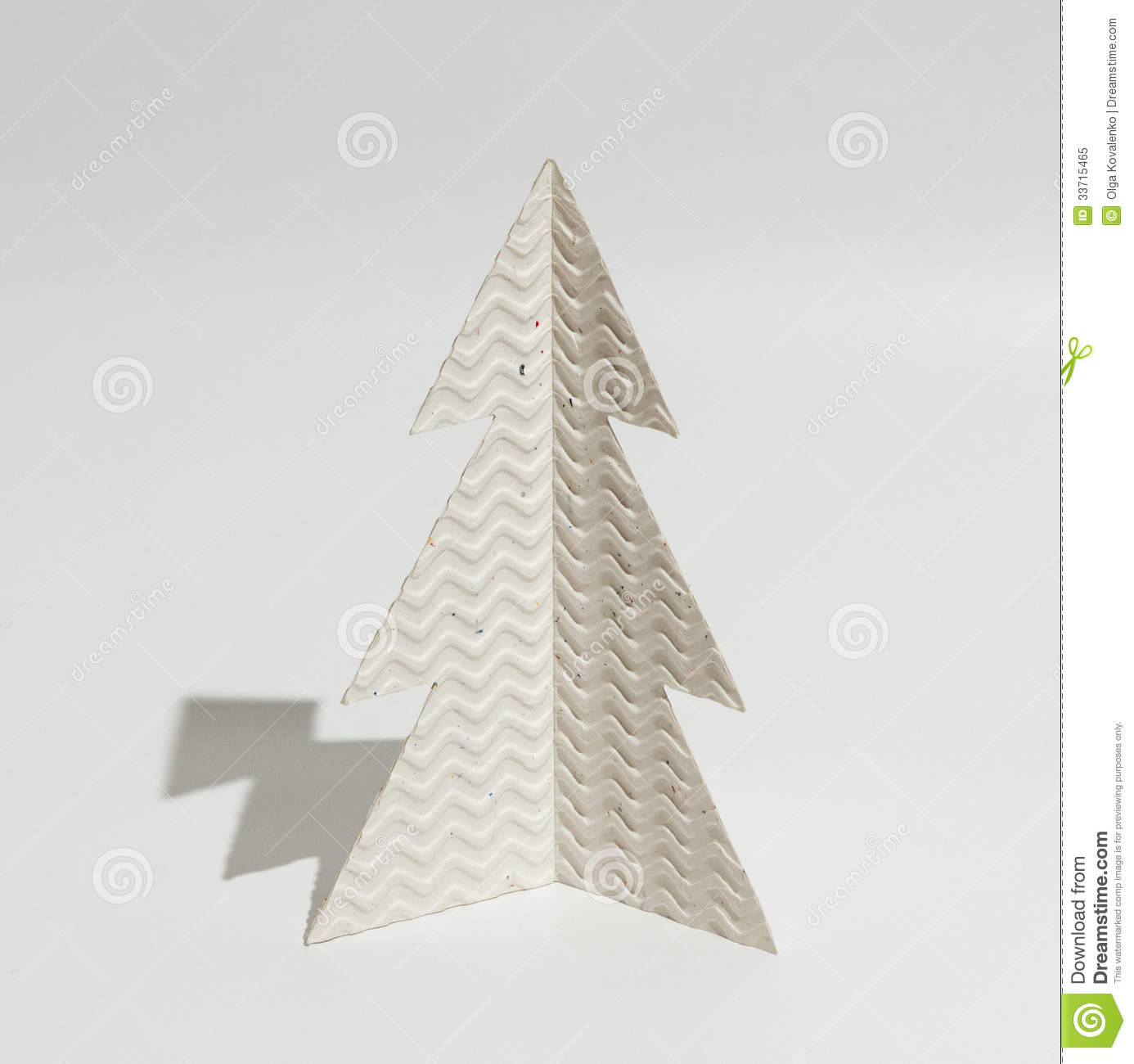 christmas tree made of paper royalty stock photo image christmas tree made of paper