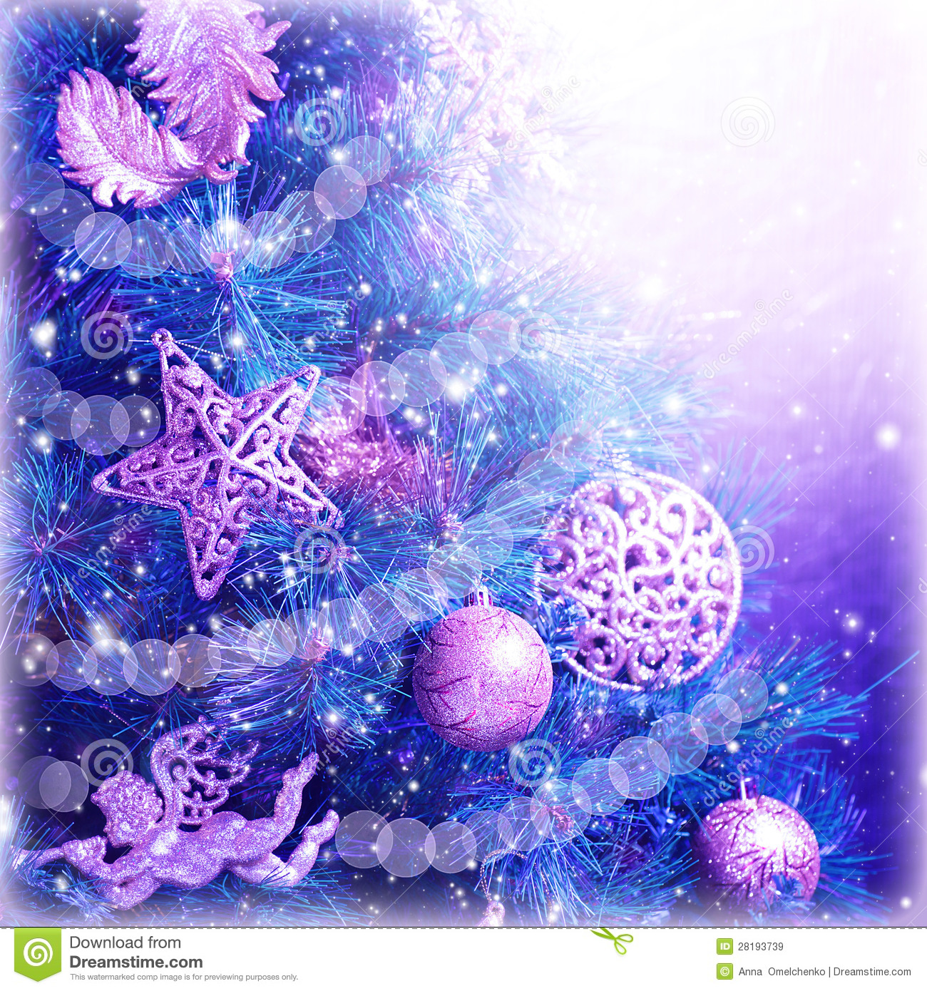 Christmas Tree Magic Background Royalty Free Stock Images