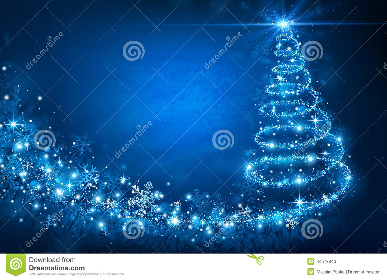 Christmas Tree Stock Vector Image Of Blue Glitter Sparkle  - Magic Christmas Tree