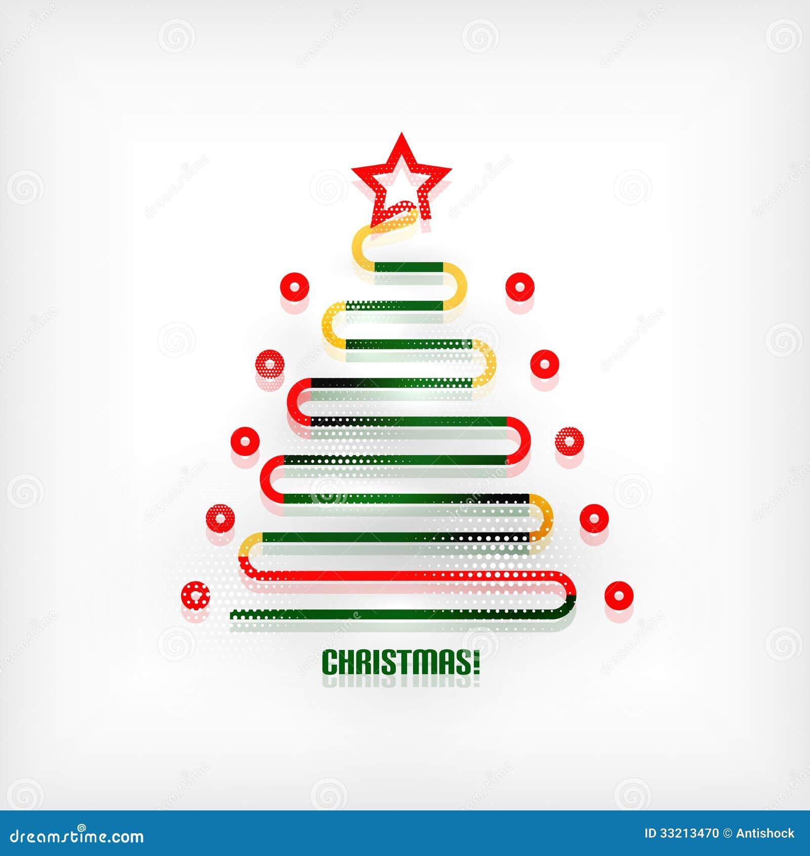 Christmas Modern christmas tree modern minimal line art background stock photo
