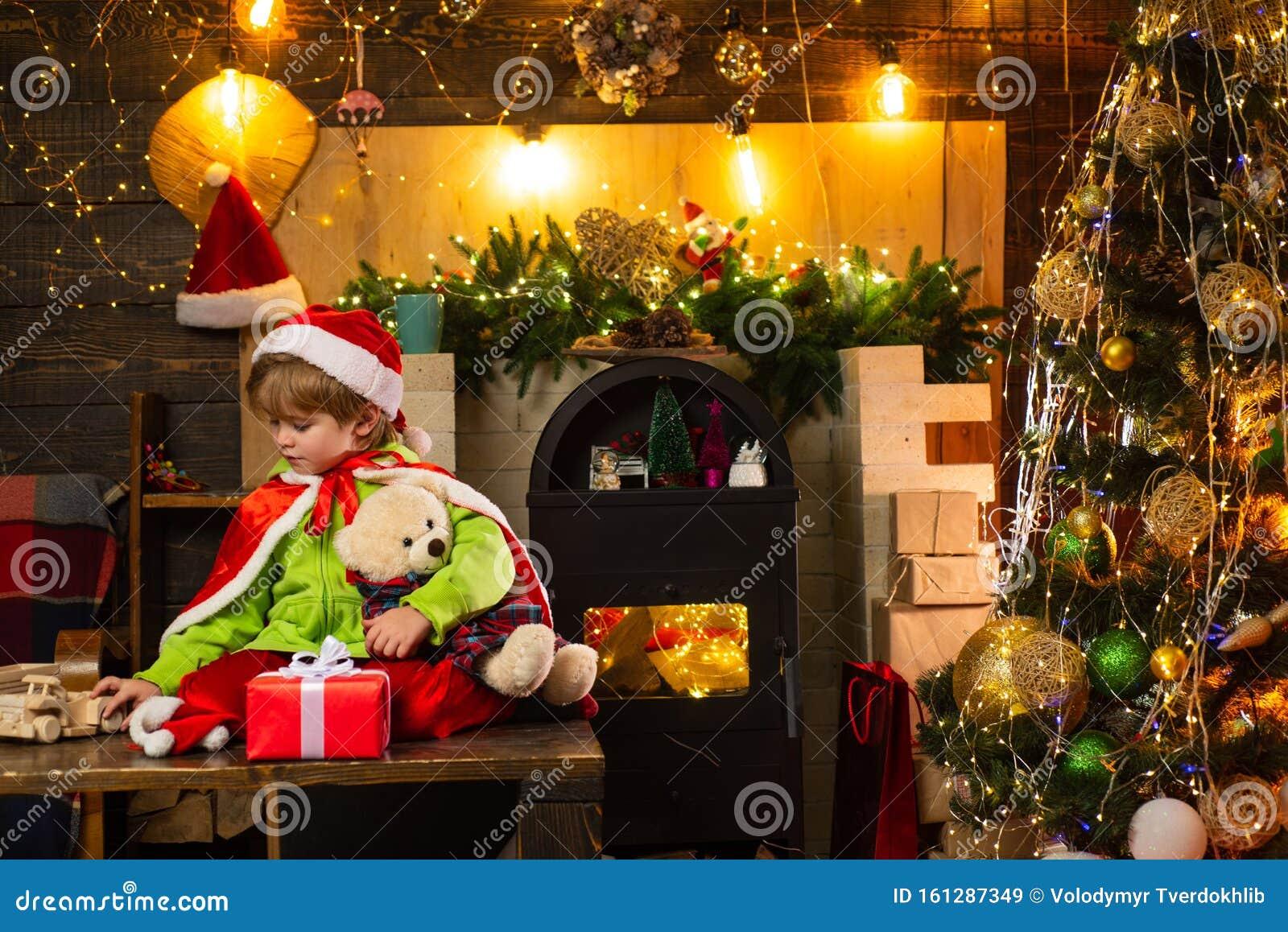 Christmas Natural Wood Christmas Tree Ornaments Santa Helpers