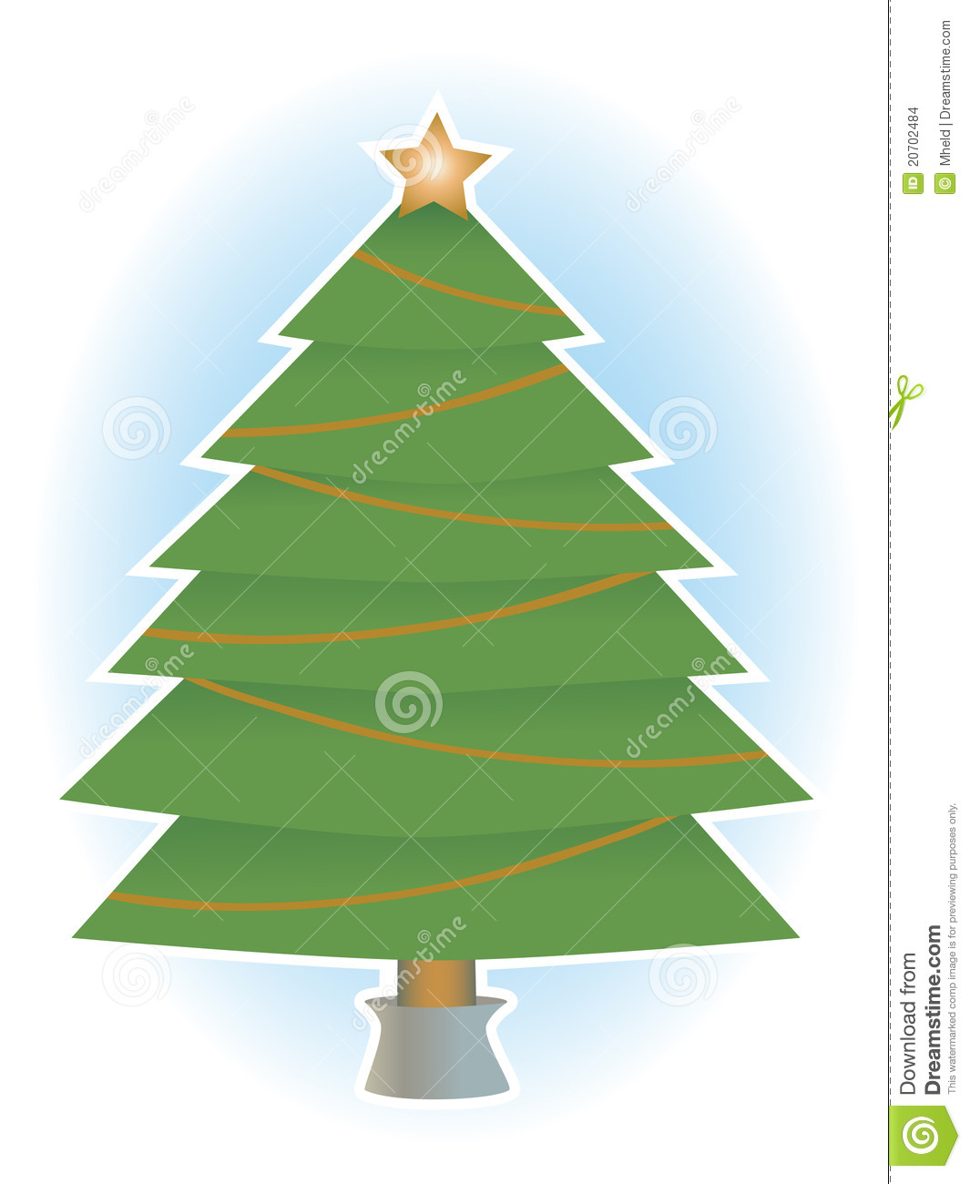 Christmas tree no ornaments star and garland stock images