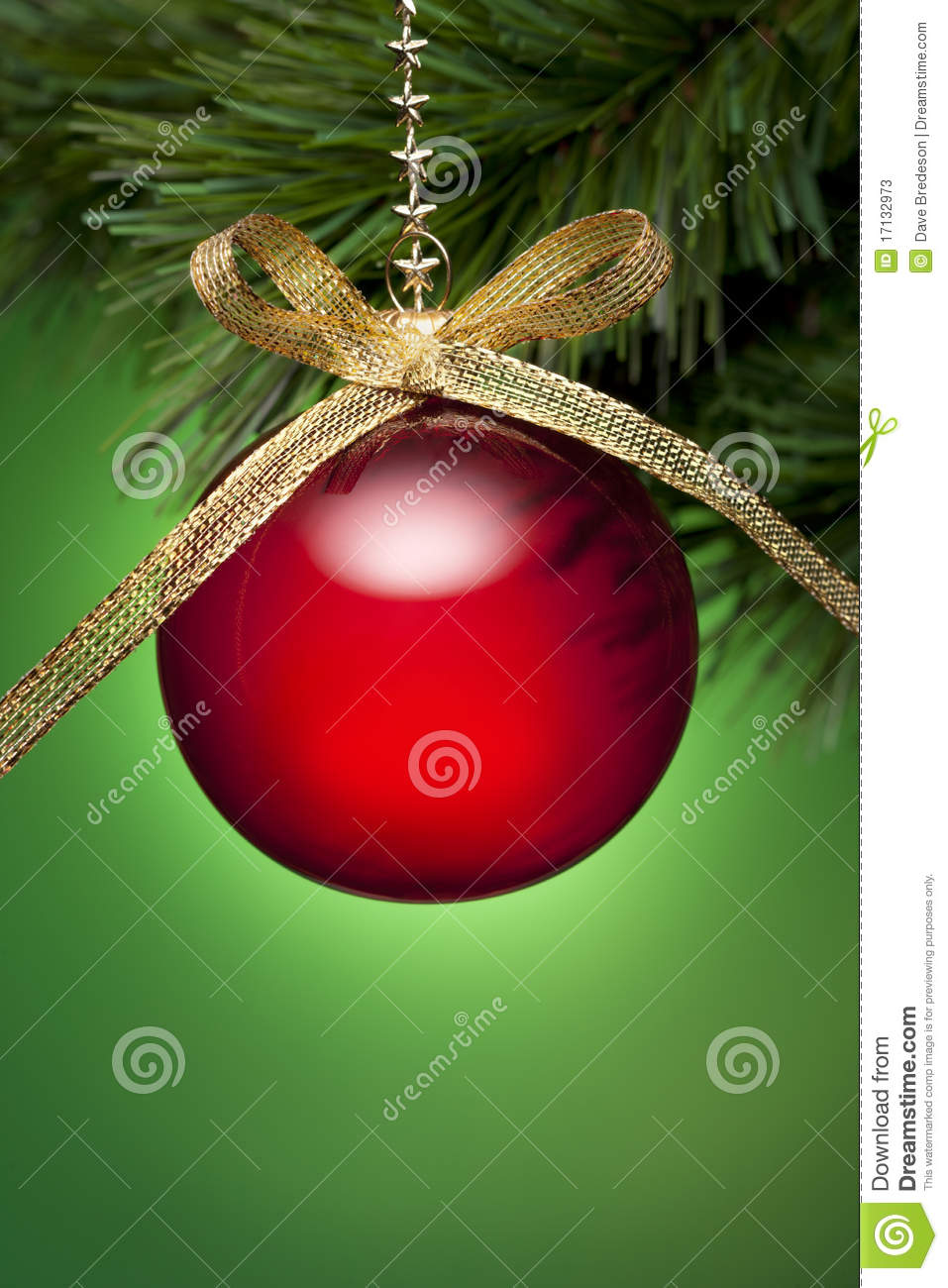 Christmas Tree Ornament Background