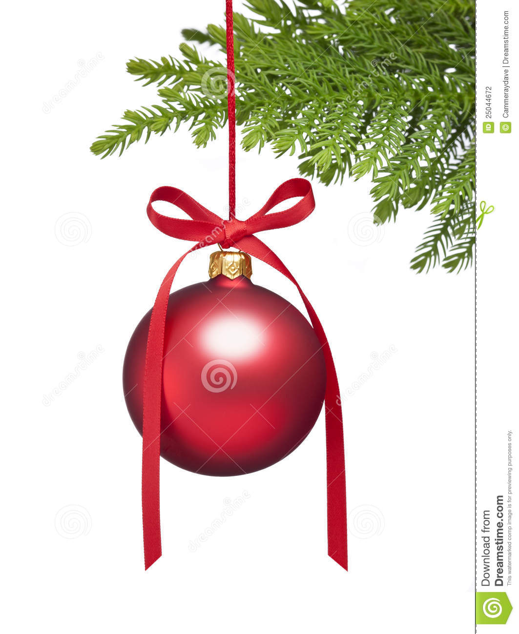 Christmas Tree Ornament Background Stock Photography - Image: 25044672