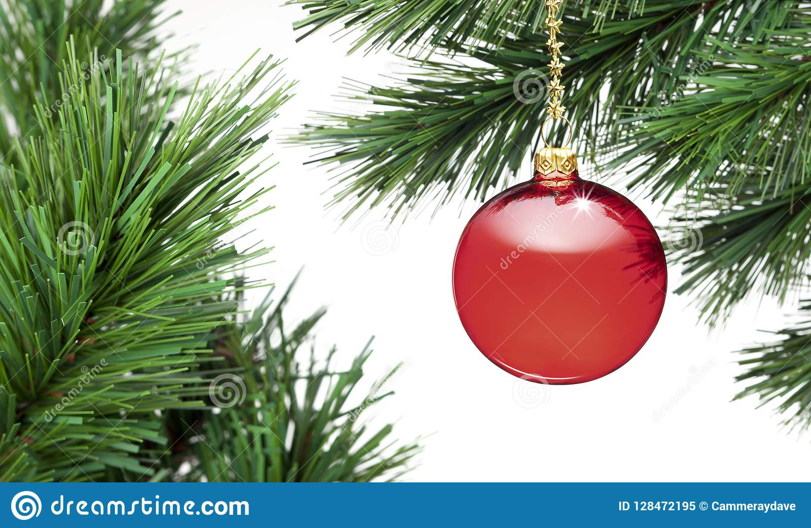 Christmas Tree Ornament Banner Background
