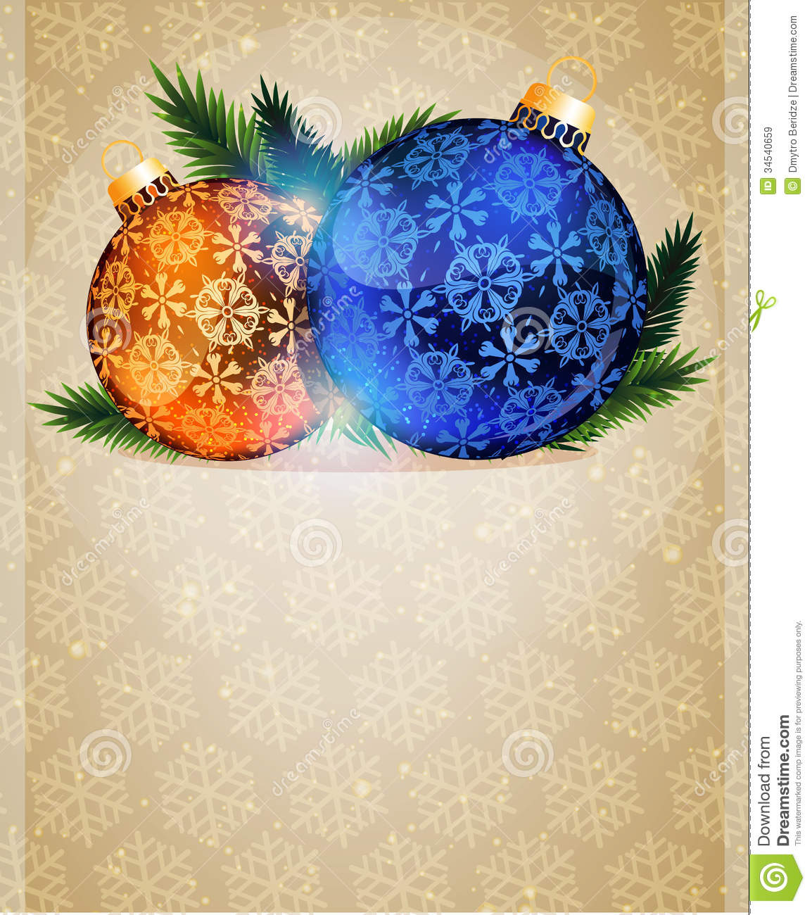 christmas tree ornaments stock vector image of background