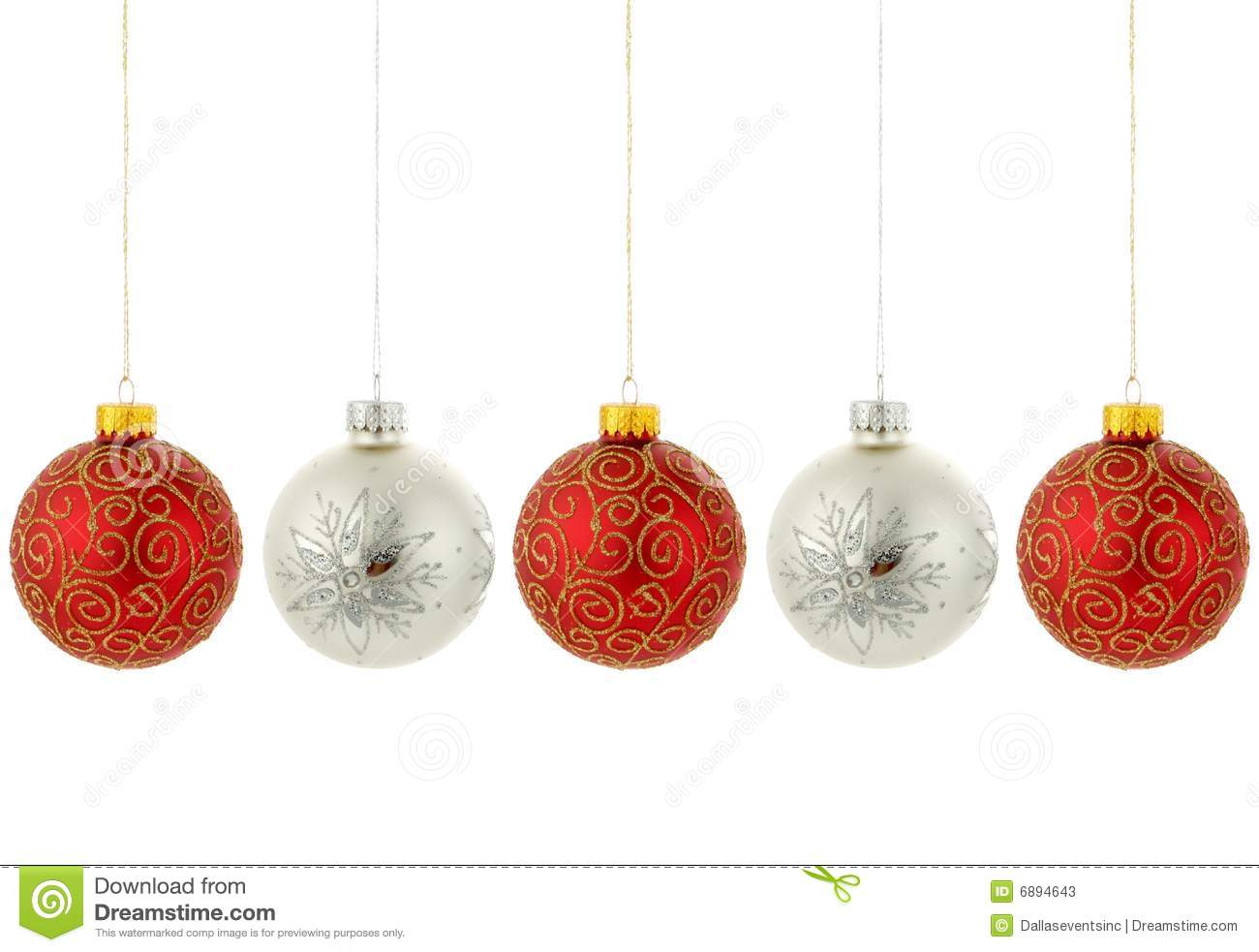 Christmas tree ornaments hanging stock image image 6894643 for Hanging christmas decorations