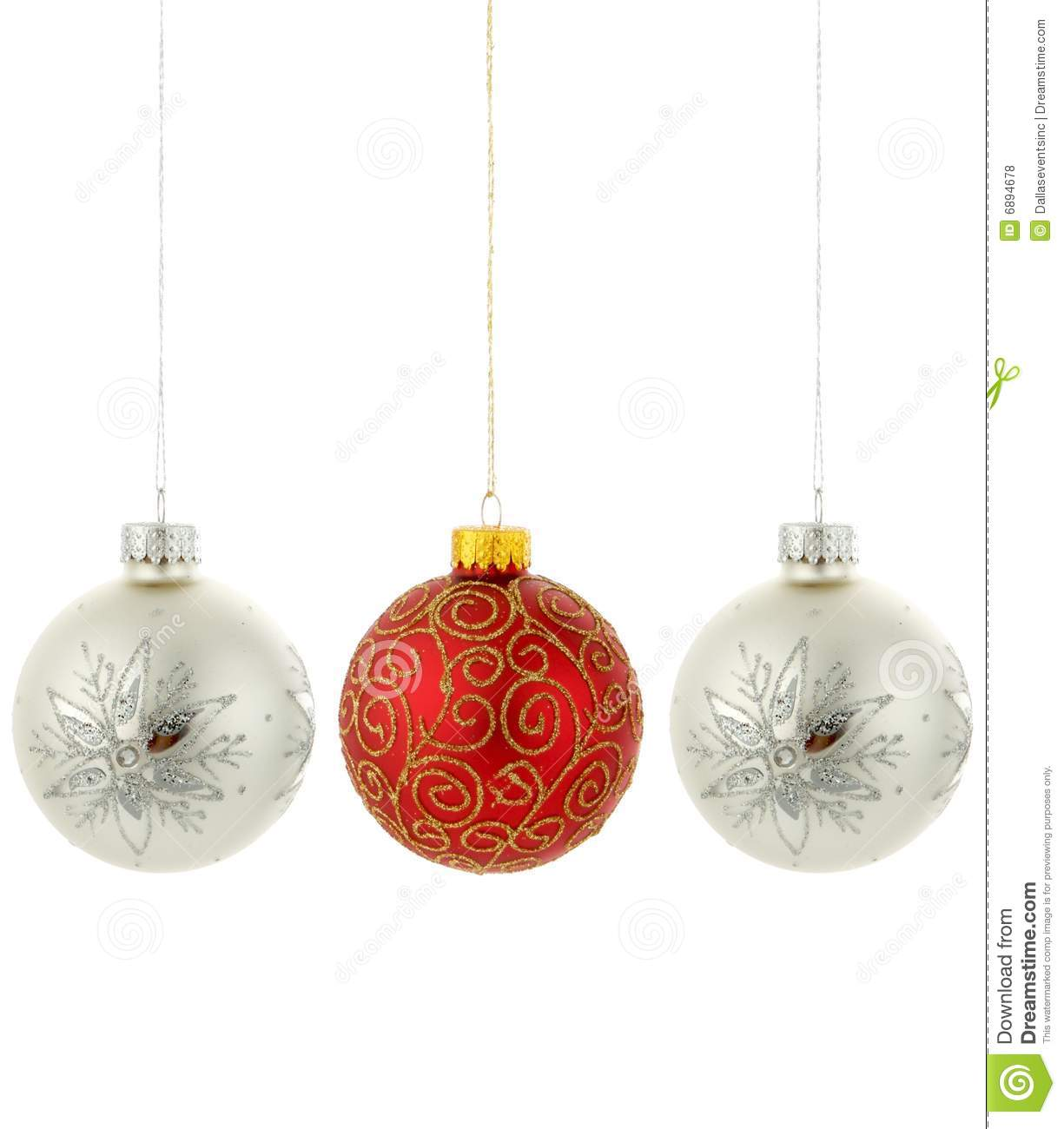 Christmas tree ornaments hanging stock photo image of for Hanging christmas decorations