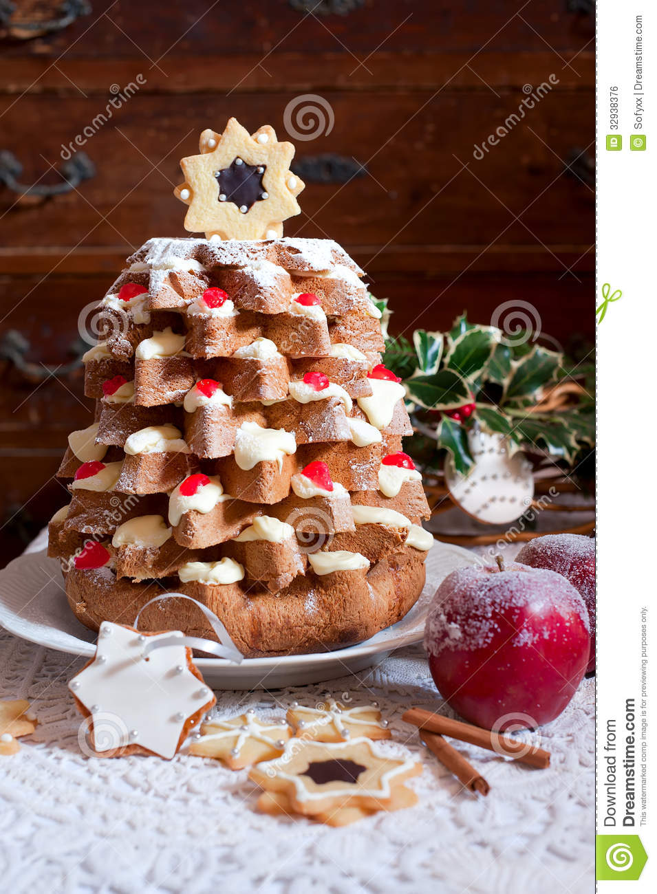 Christmas Tree Pandoro Royalty Free Stock Image Image