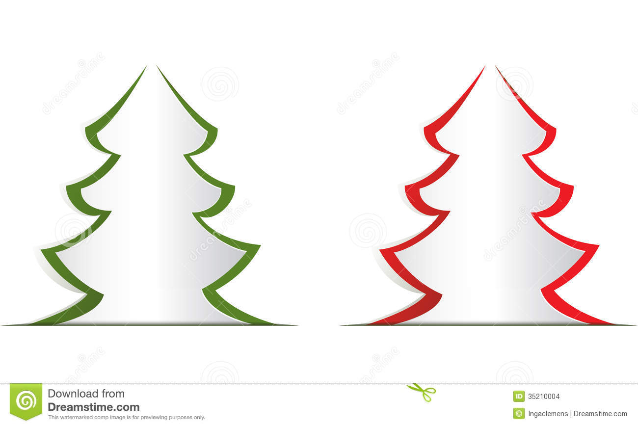 Christmas Tree Stock Illustration. Illustration Of Cutout