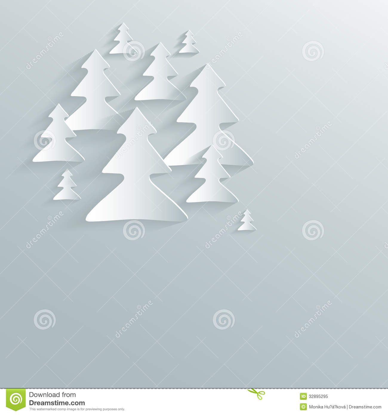 christmas tree paper sky stock vector illustration of natural