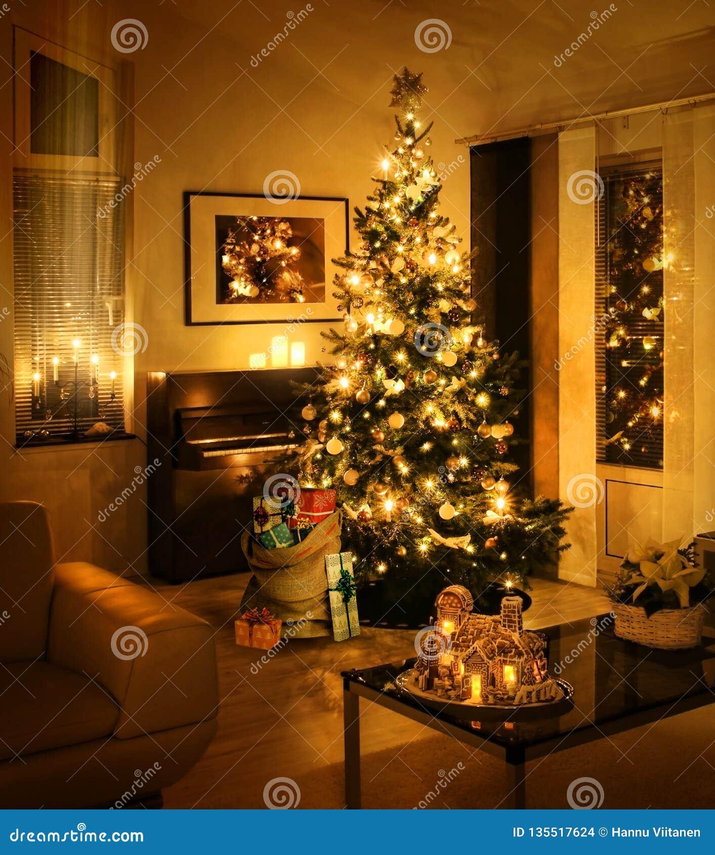 Christmas tree with present sack