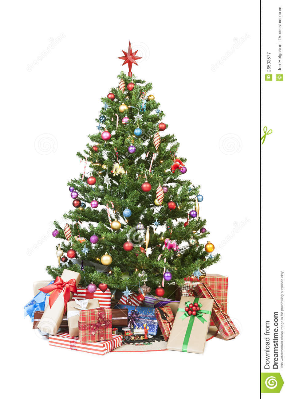 Christmas Tree With Presents Royalty Free Stock ...