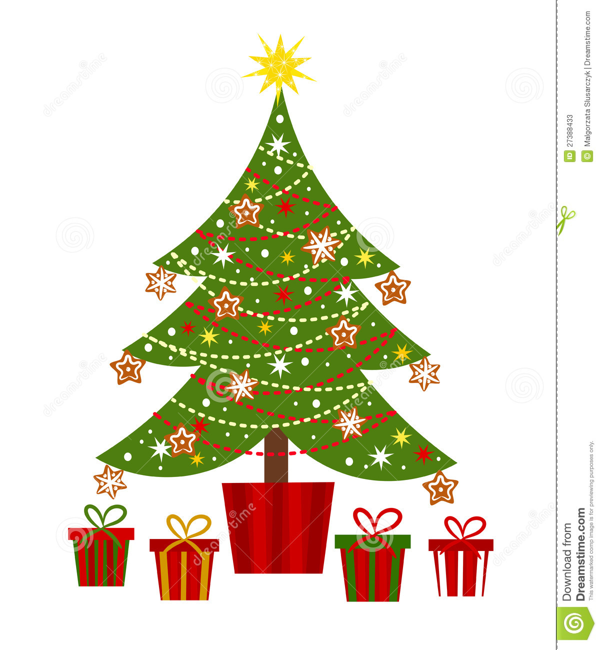 Christmas Tree And Presents Stock Vector Illustration Of Green