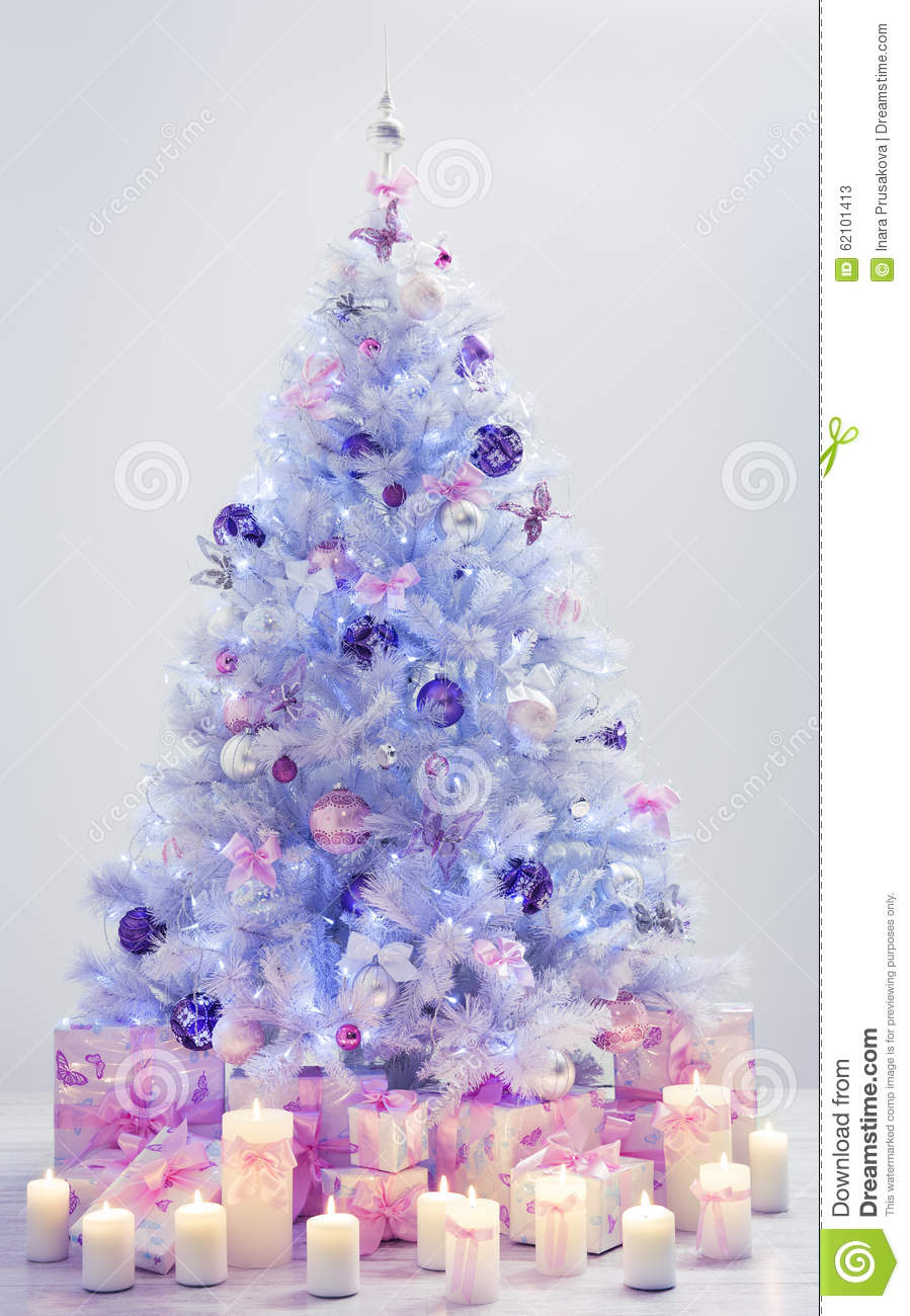 christmas tree presents decorated xmas tree blue gifts - Christmas Tree Blue