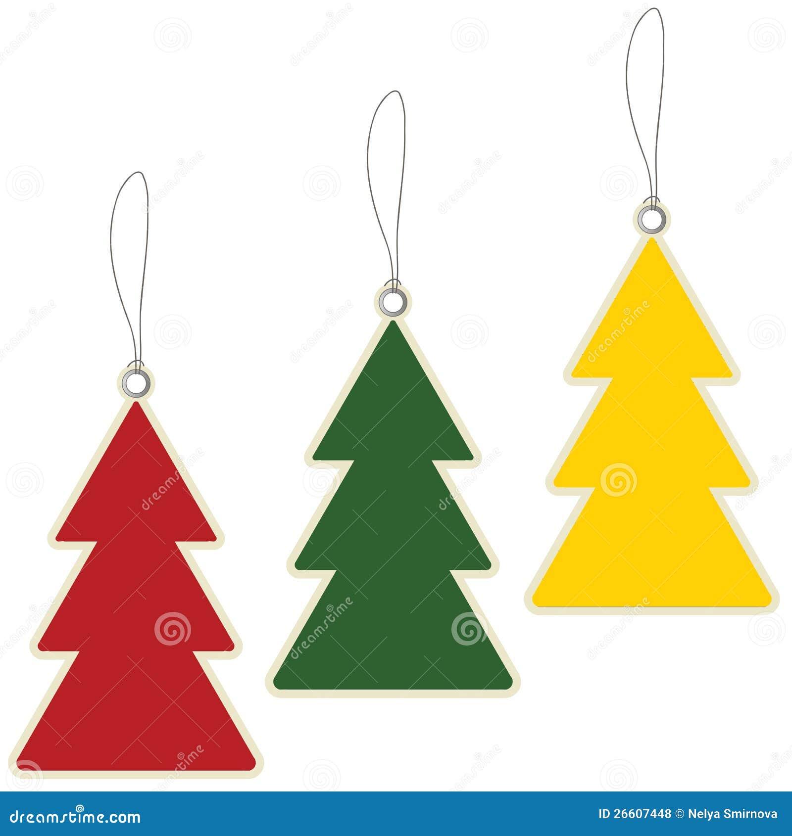 Christmas Tree Price Tags Royalty Free Stock Photos - Image: 26607448