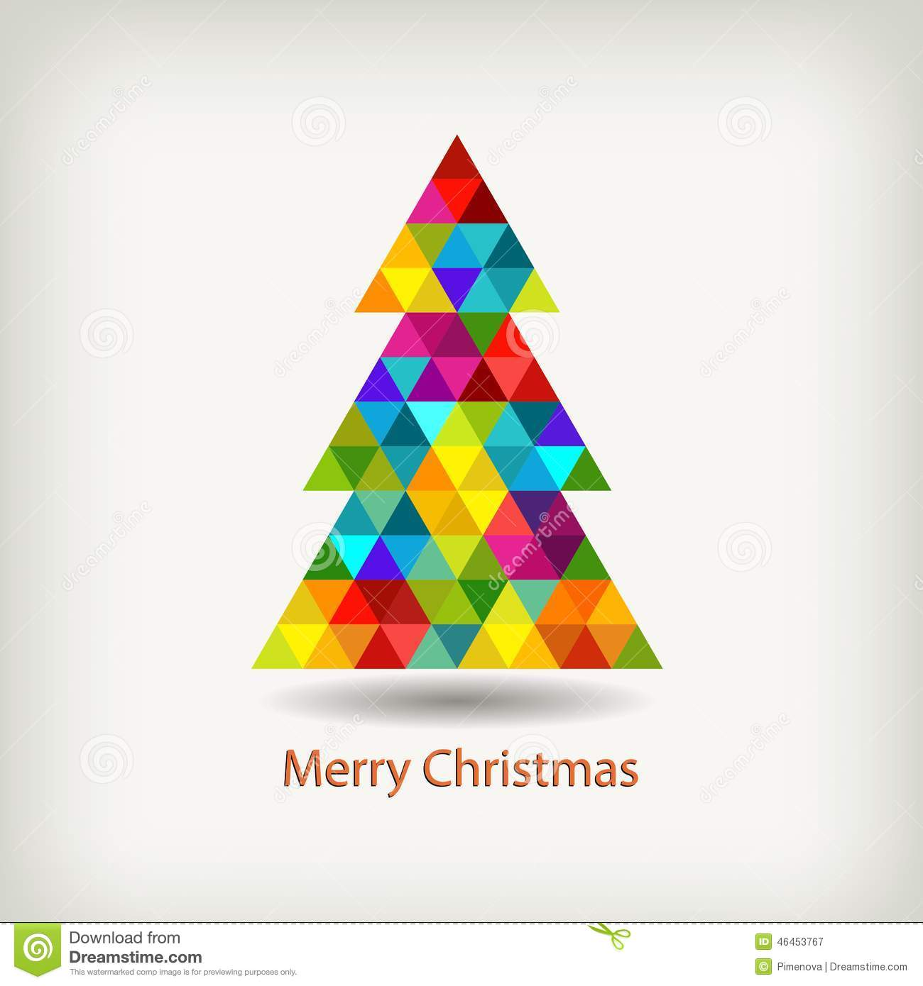 Christmas Tree In Rainbow Colors Stock Vector