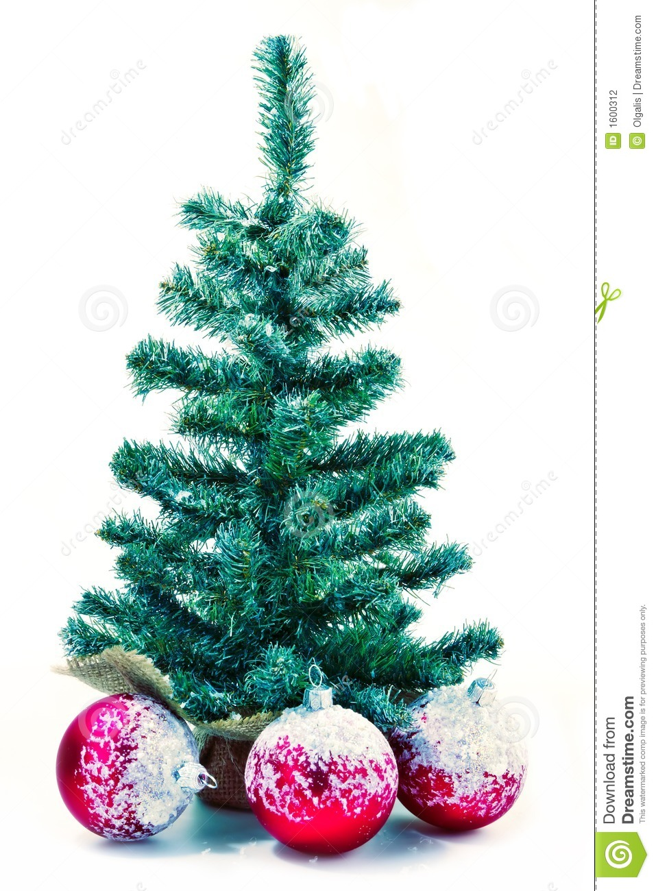 Christmas tree with red balls stock photography image