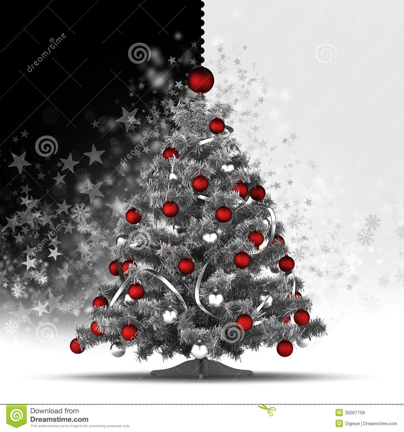 white christmas tree with red and black decorations photo18 - White Christmas Tree With Red And Black Decorations