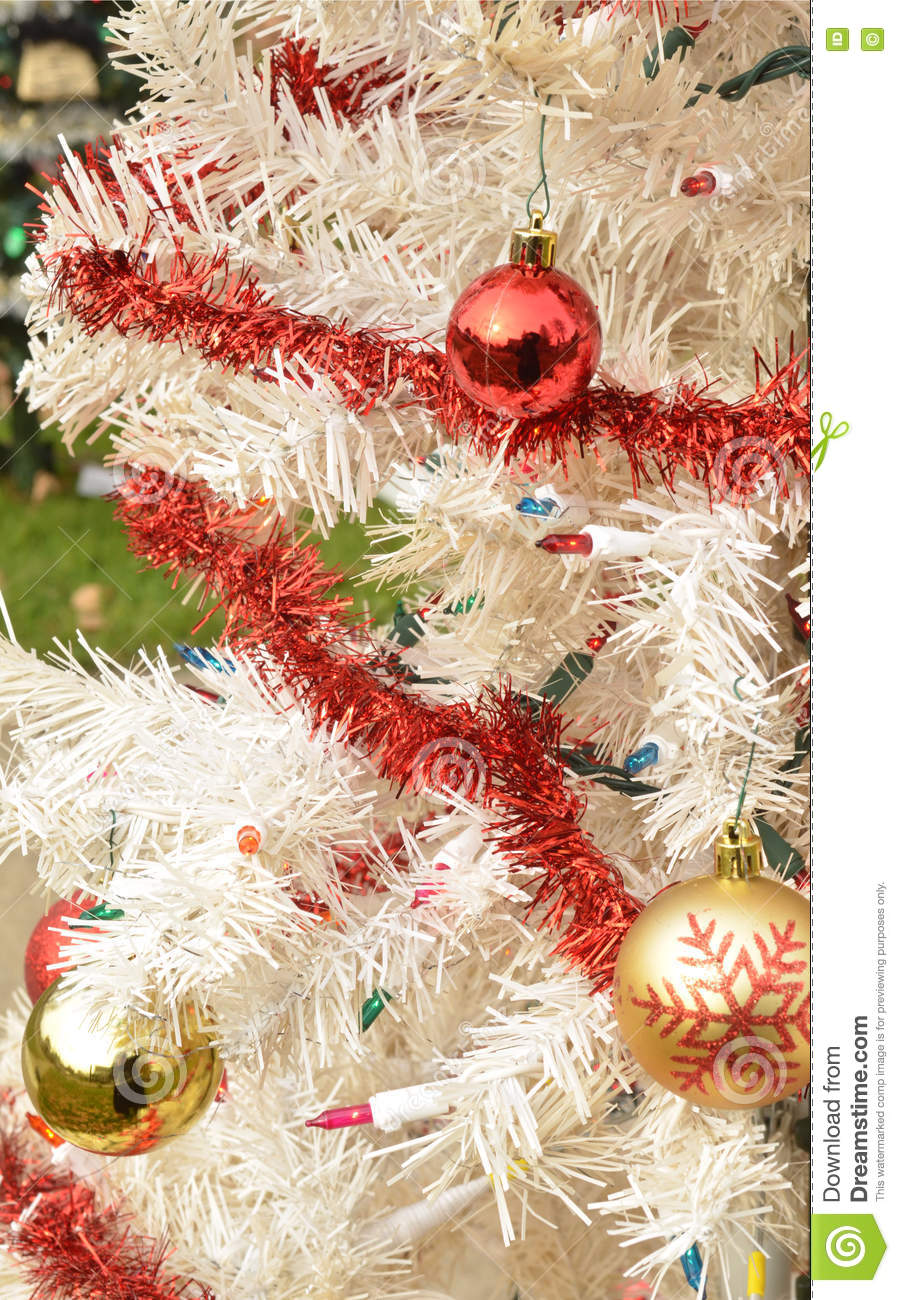 Christmas Tree With Red And Gold Ornaments Stock Image Image Of