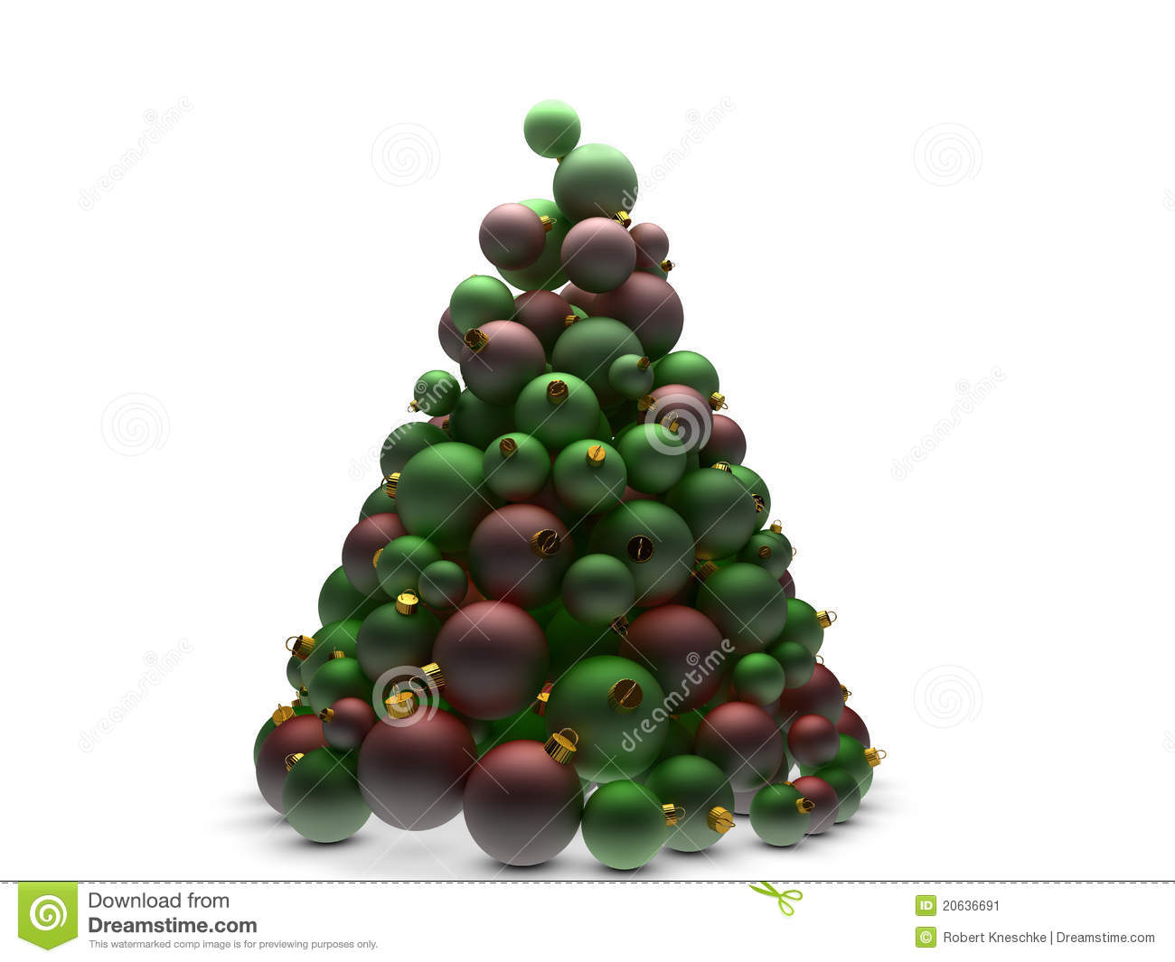Christmas tree in red and green stock image image 20636691 for Red green christmas tree