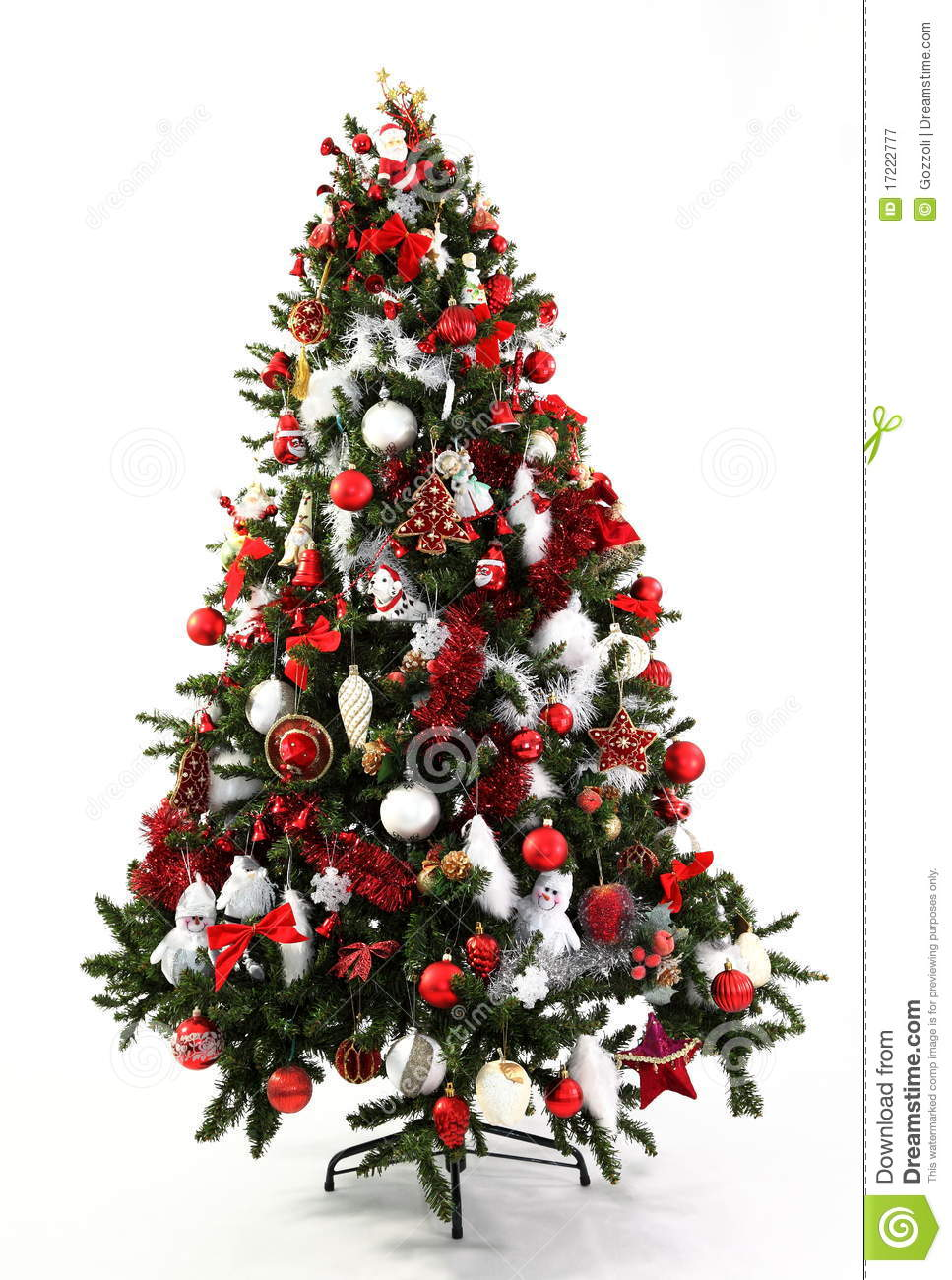 Christmas tree red and white royalty free stock Red white christmas tree