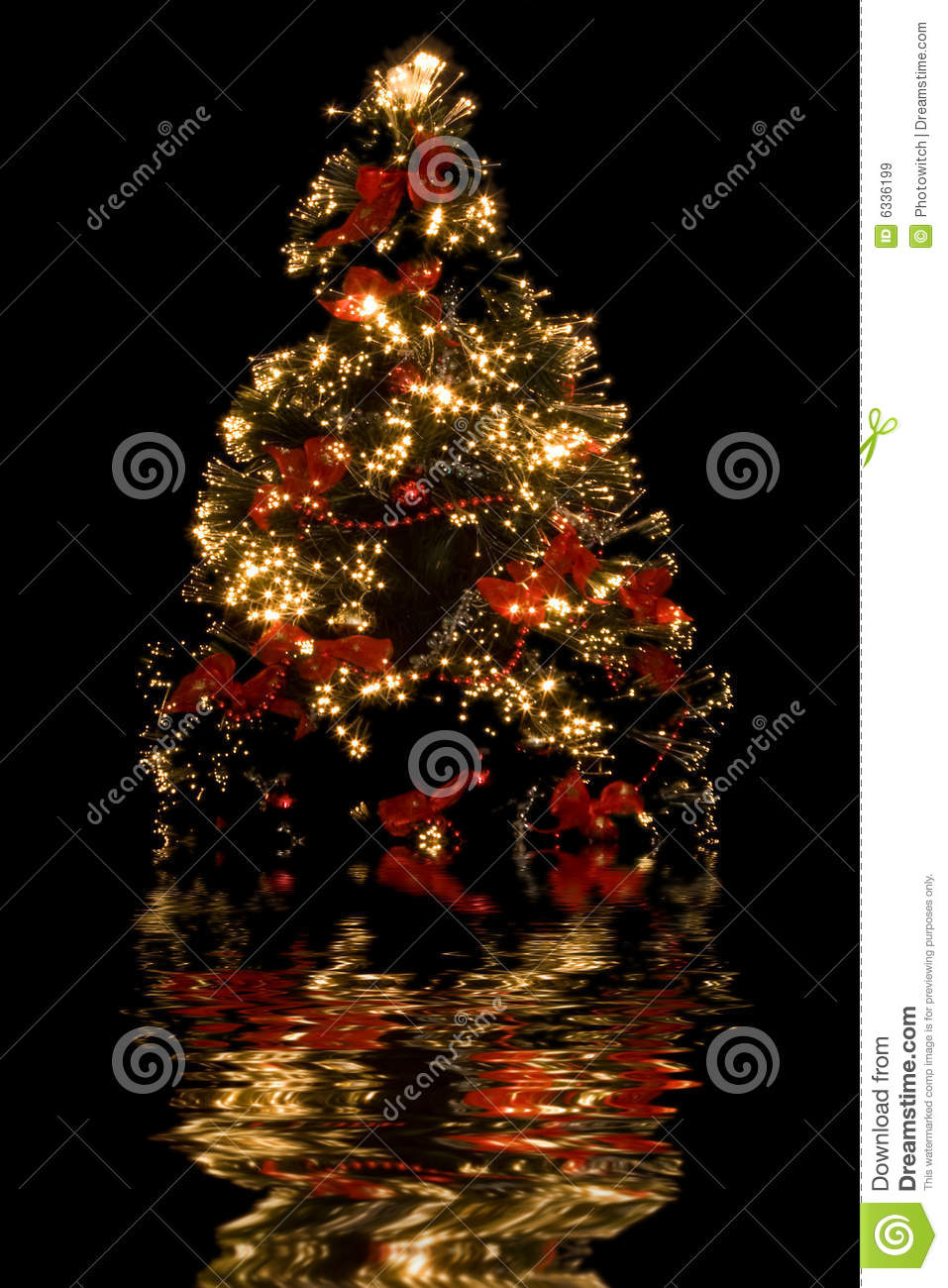 Christmas tree reflection royalty free stock images