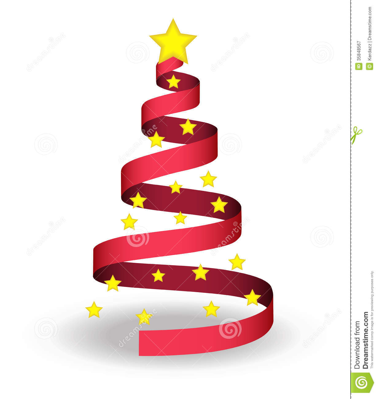 Christmas tree royalty free stock photography image for Red ribbon around tree