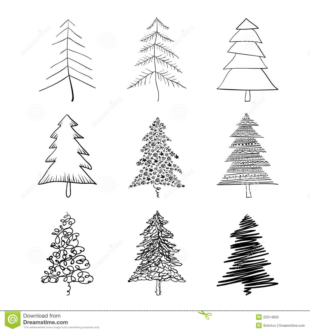 christmas tree silhouette stock vector  image of curve