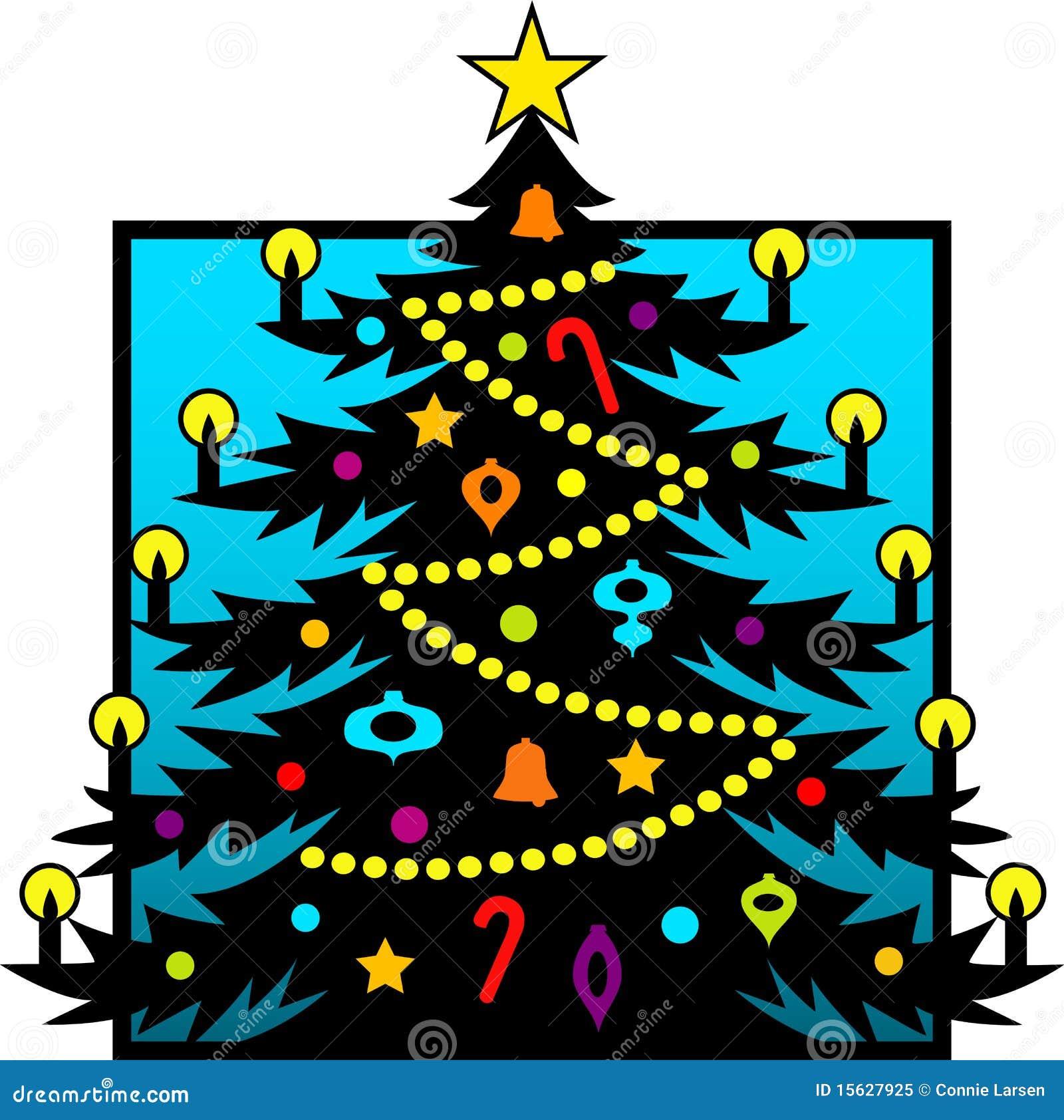 Christmas Tree Silhouette/eps Stock Vector - Illustration of stars ...