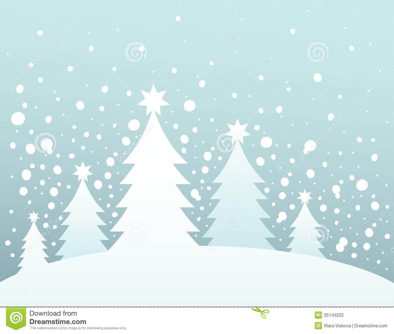 Christmas Trees Silhouette.Christmas Tree Silhouette Topic 3 Stock Vector