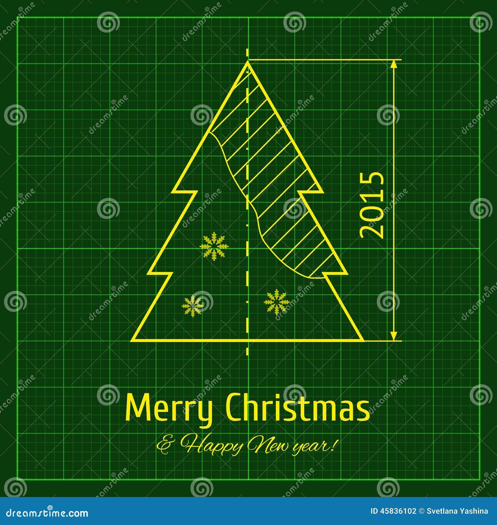christmas tree stock vector illustration of measurement 45836102