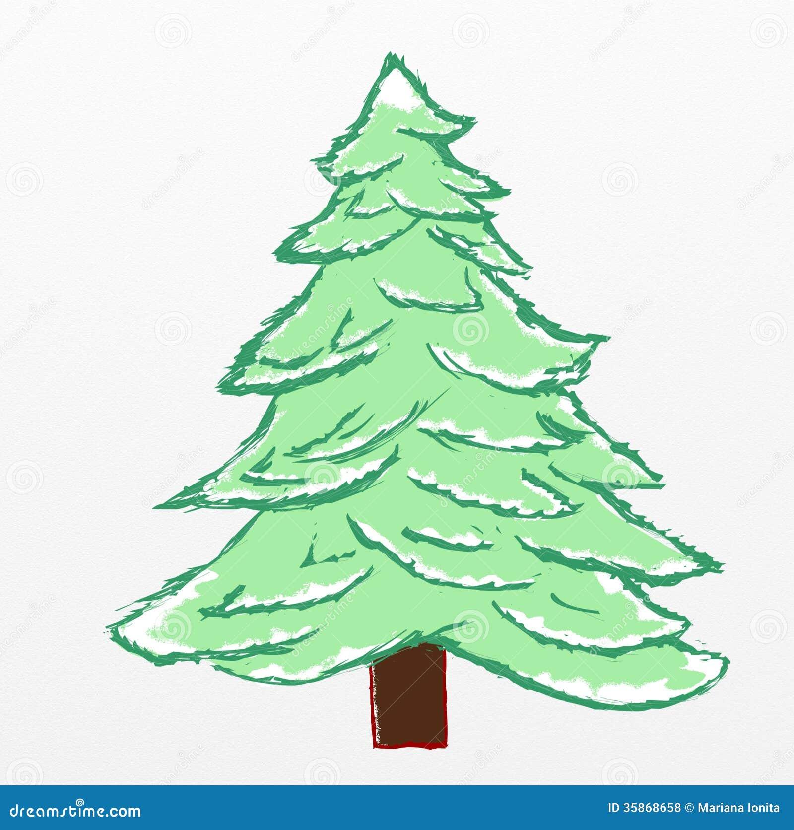 Uncategorized Pine Tree Sketch christmas tree sketch royalty free stock photos image 35840178 photos