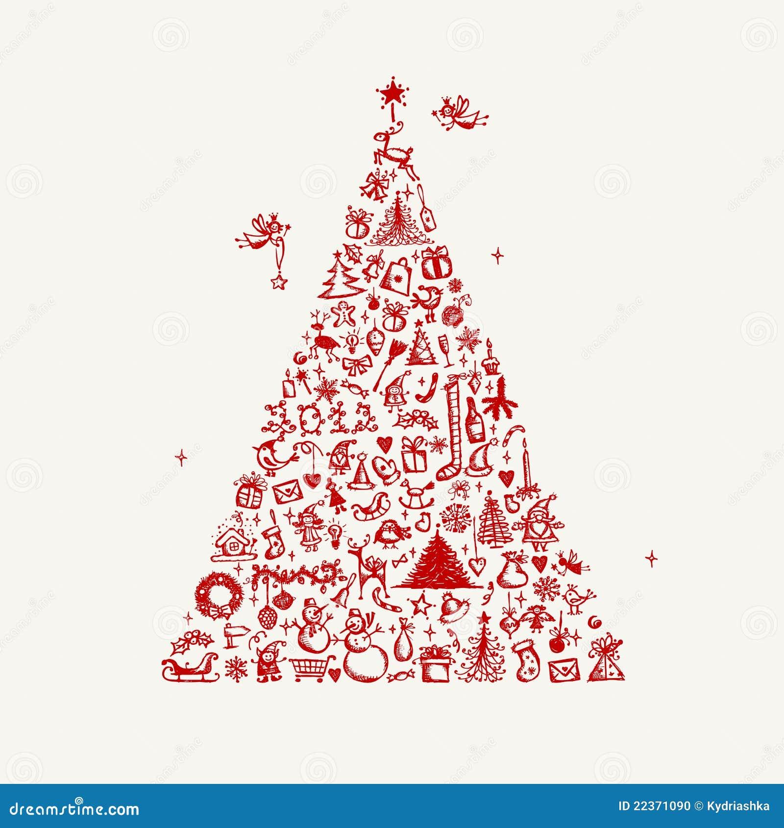 Christmas Tree Drawing Designs