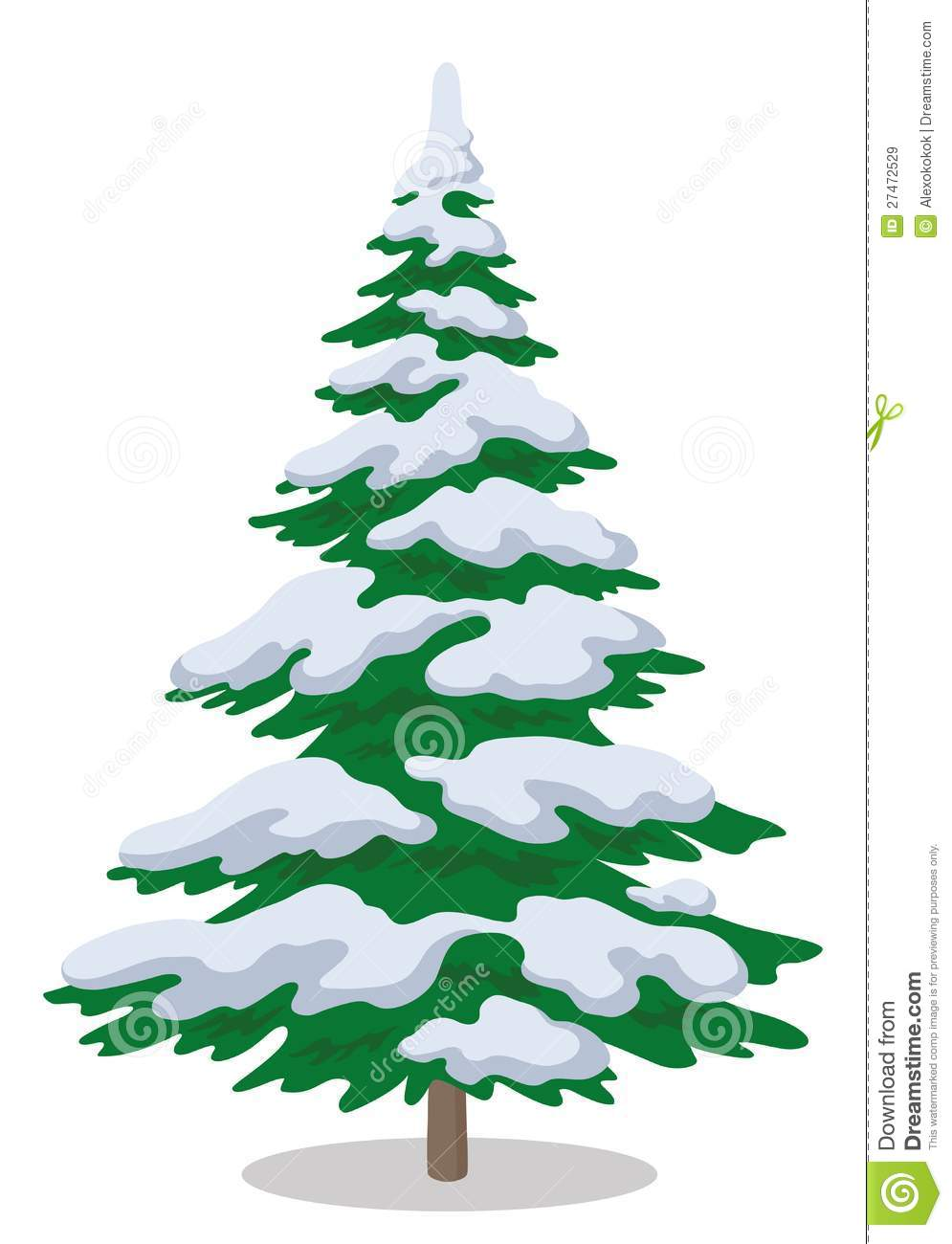 Christmas Tree With Snow Royalty Free Stock Images Image