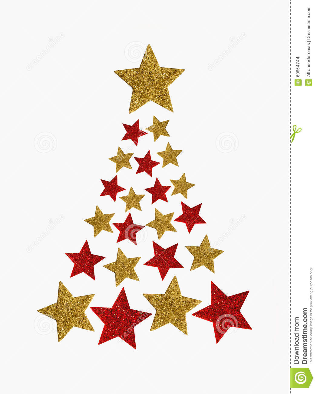Christmas Tree Stars Stock Illustration Illustration Of Celebration