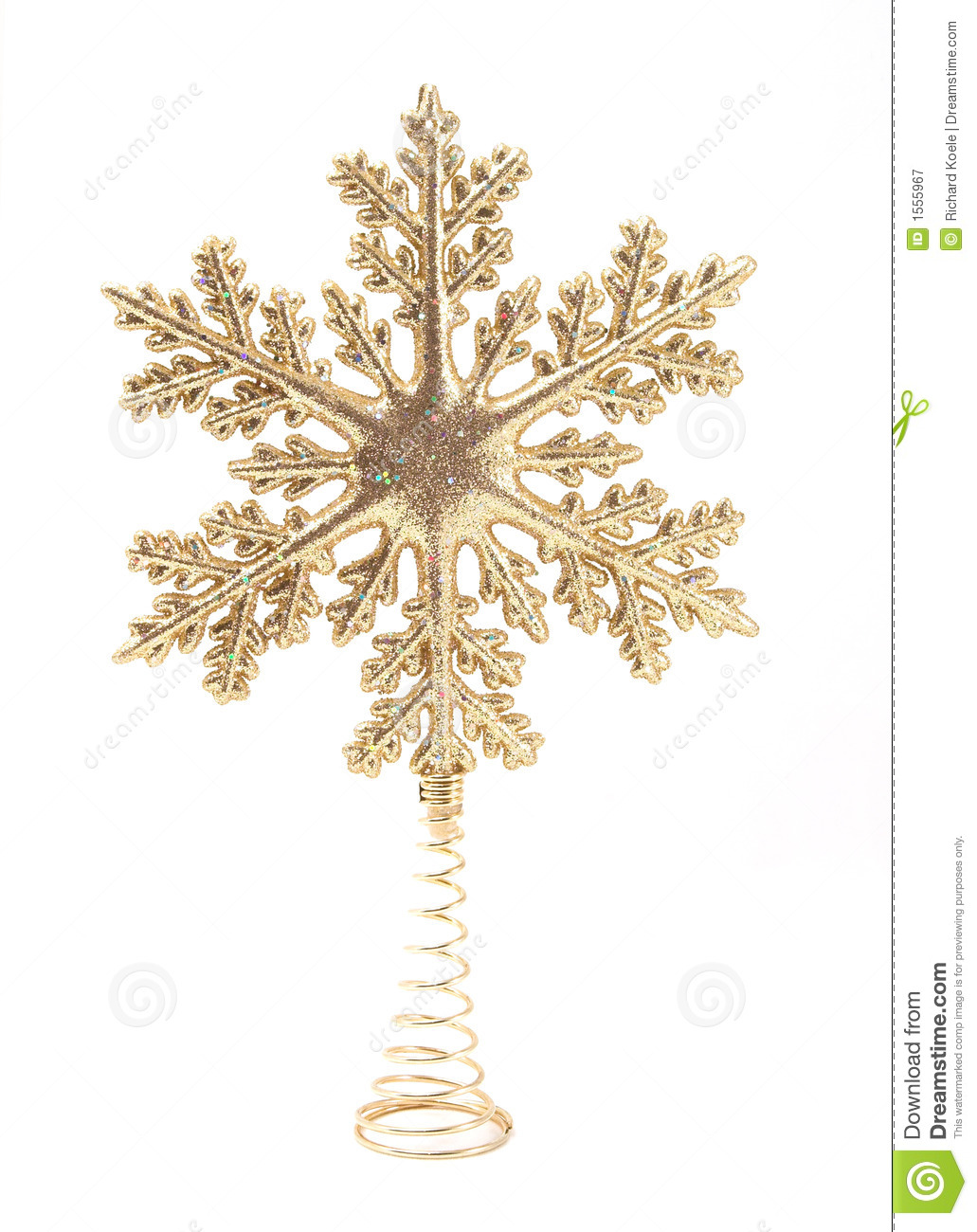 Christmas Tree Topper stock image. Image of decor ...