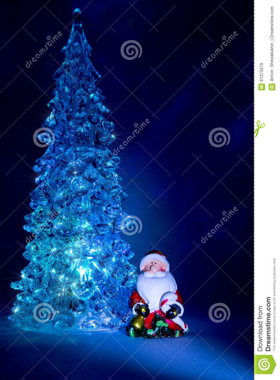 download christmas tree toy shining with a beautiful shadow northern lights background and highlights in the